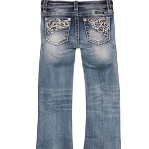 🔹🔷Girl's Blue Stonewashed Bootcut Miss Me Jeans